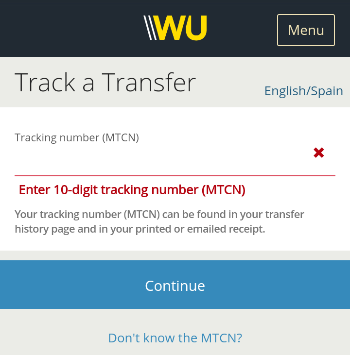 How To Track Western Union Transfer Online Without MTCN