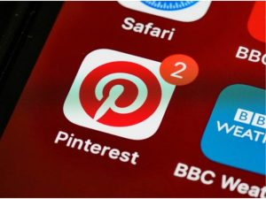 Pinterest mobile app icon, representing ways to make money with Pinterest