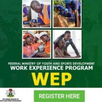 Application For Work Experience Program (WEP) For Nigerian Youths