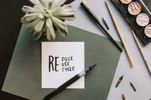 a reuse, reduce, recycle note