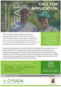 Oyo State Government Opens Application For Youths In Agribusiness (Check How To Apply)